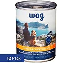 Amazon Brand - Wag Wet Canned Dog Food 12.5/13.2 oz (Pack of 12)