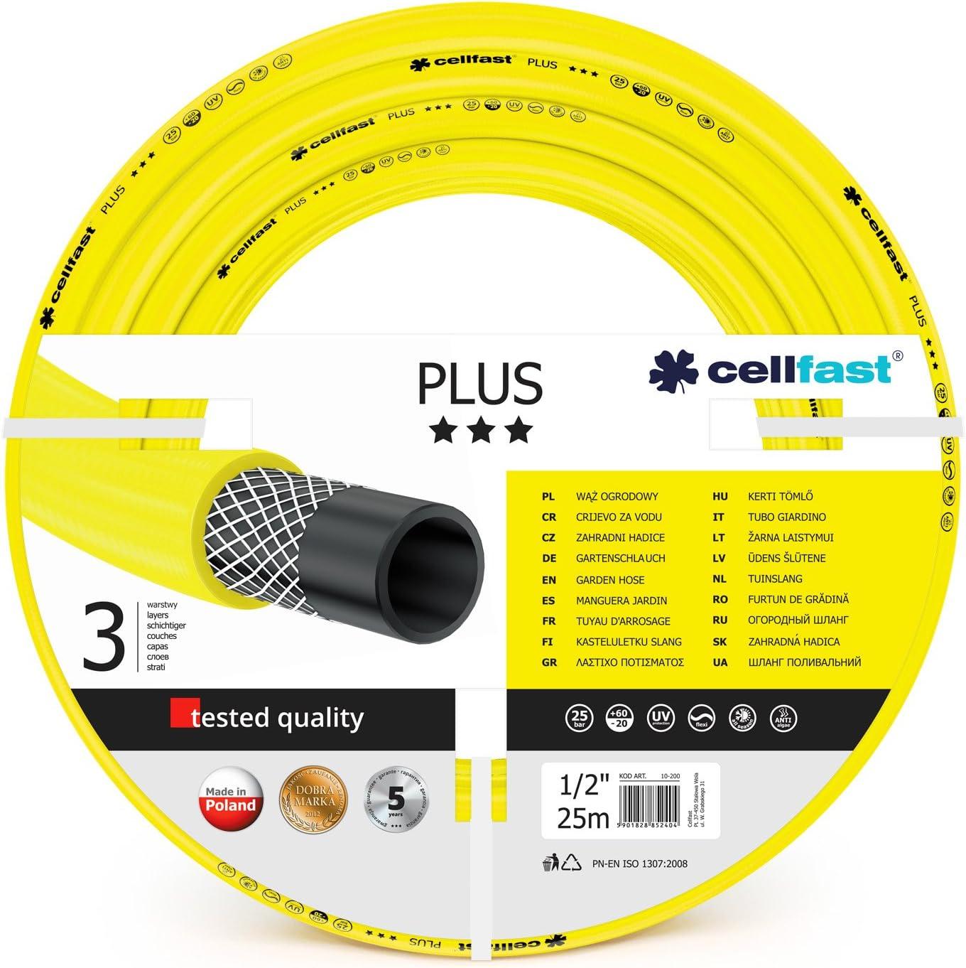 Yellow Cellfast 10-200 PLUS Garden Hose