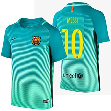 348a2b9ab 2016 Messi  10 Barcelona Away Jersey   Shorts for Kids and Youths Color  Green (
