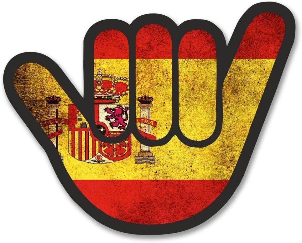 2 x 10cm/100 mm España Bandera española ShockerAdhesivo para ventana adhesivo coche FURGONETA FURGONETA Glass #6175: Amazon.es: Coche y moto
