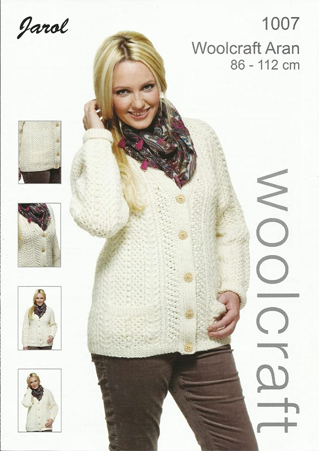 Knitting Pattern for Adult Women\'s Aran Wool Cardigan. Pattern ...
