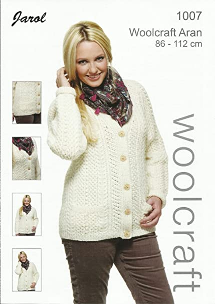 70a4d4c22 Knitting Pattern for Adult Women s Aran Wool Cardigan. Pattern Number   1007  Amazon.co.uk  Kitchen   Home