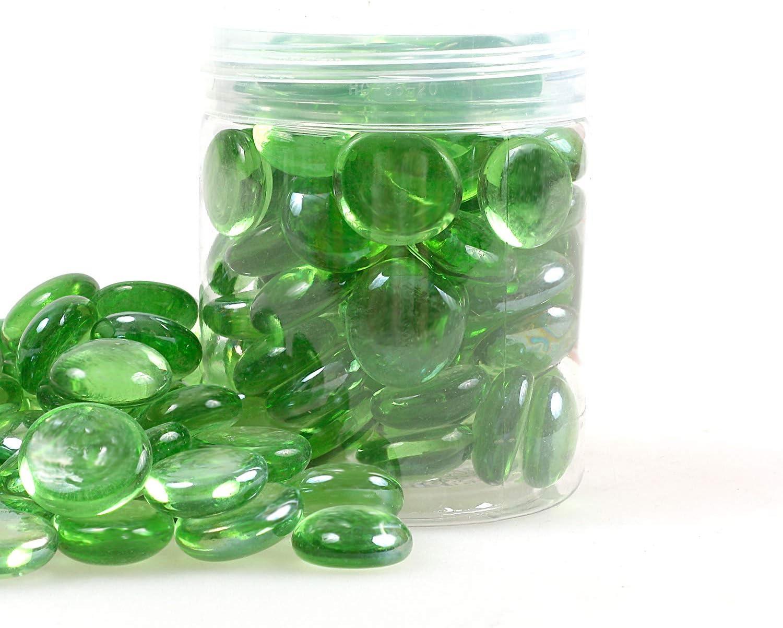 d/écoration de jardin Dark Amber aquarium galets de verre pierres de feu perles pour foyer 19 mm pierres de feu Gravelle r/éfl/échissante en verre /à haute lustre 17 335 g