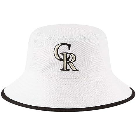 Amazon.com   Colorado Rockies New Era Team Bucket Hat White   Sports ... 6c89cf2558a