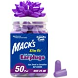 Mack's Slim Fit Soft Foam Earplugs, 50 Pair - Small Ear Plugs for Sleeping, Snoring, Traveling, Concerts, Shooting…