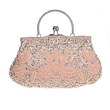 Imitation Perle Strass Designer Damentasche Tasche Clutches Handtasche Abendtasche Unterarmtasche (Gold) Kaxidy zFI1gzSaM