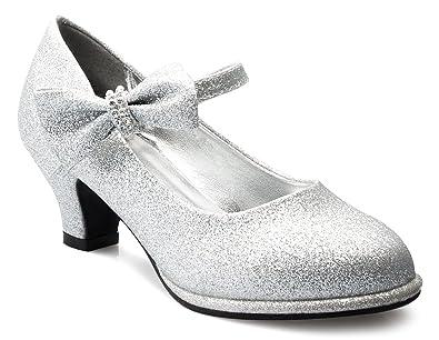 215d12668d3 OLIVIA K Girls Bow Mary Jane Kitten Heel Pumps (Toddler/Little Girl)