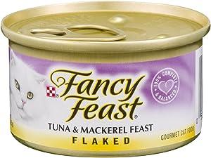 Fancy Feast Flaked Tuna & Mackerel Feast Canned Cat Food 24 - 3oz Cans
