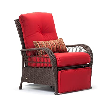 La-Z-Boy Outdoor Bristol Resin Wicker Patio Furniture Recliner (Scarlet Red)  sc 1 st  Amazon.com : lazy boy patio recliners - islam-shia.org