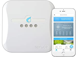 Plaid Systems Spruce Irrigation 16 Zone WiFi Sprinkler Controller (Gen 2), Compatible with Alexa, Wireless Soil Moisture Sensors, Leak Detection, Flow Meter
