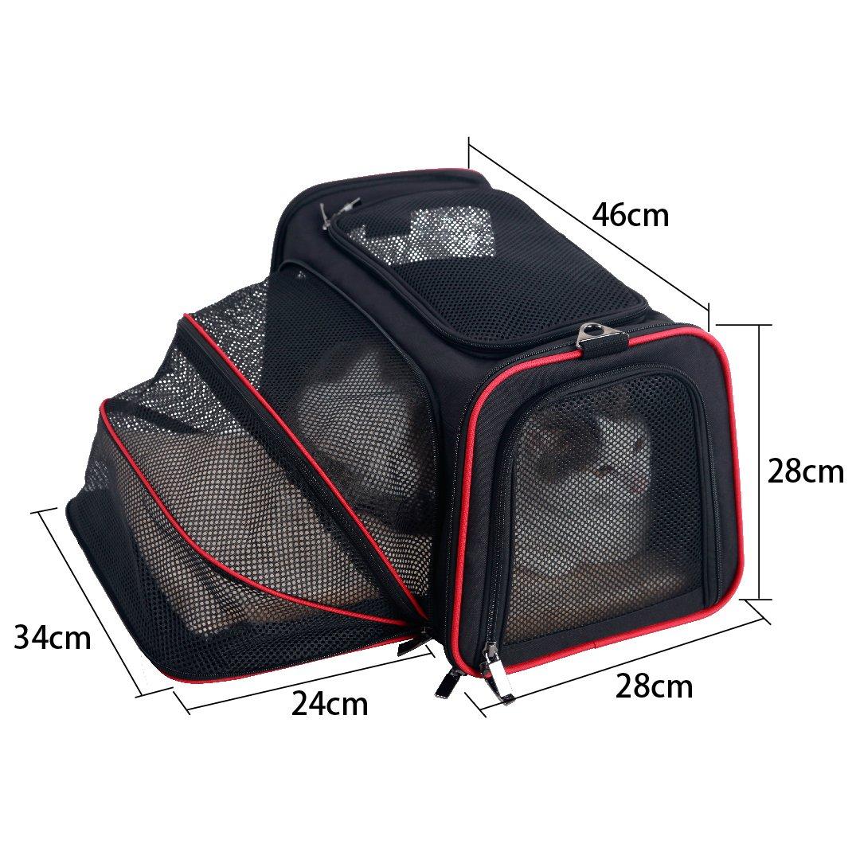 Petsfit Supporto per animali domestici portanti pieghevoli per il trasporto di cani da viaggio pieghevoli Comfort media: 45cm x 28cm x 28cm