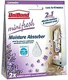 Unibond Minifresh Moisture Absorber Sachet Pack 2 Lavender - Car Wardrobe Drawers Etc