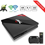 Android TV Box H96 pro+(3G+32G) Android 7.1 Smart TV H.265 4K Player HDMI2.0 Dual-band Wi-Fi and Bluetooth 4.1 With Wireless Keyboard Remote Aoxun
