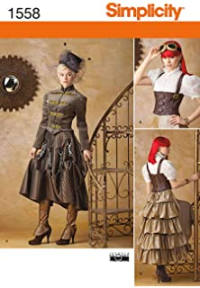4 Schnittmuster Gothic-Cosplay Mantel Gr.40-48