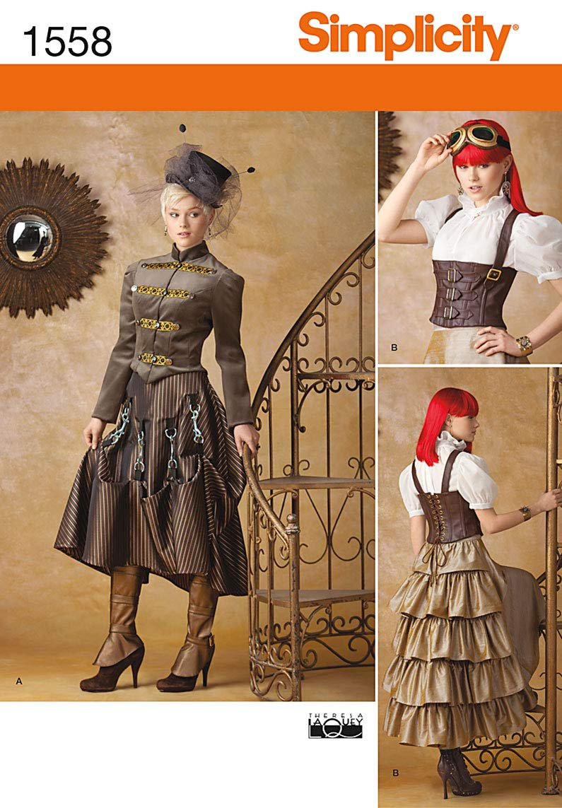 Simplicity 1558 Misses' Steampunk Costume HH (6-8-10-12) Simplicity Creative Patterns