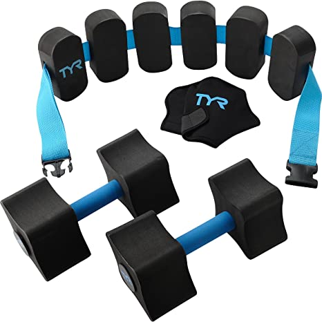 TYR Aquatic Fitness Kit, Black/Blue