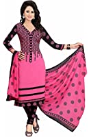 Dresses for women party wear Designer Dress Material Today offers buy online in Low Price Sale Pink Color Cotton Fabric Free Size Salwar Suit Material