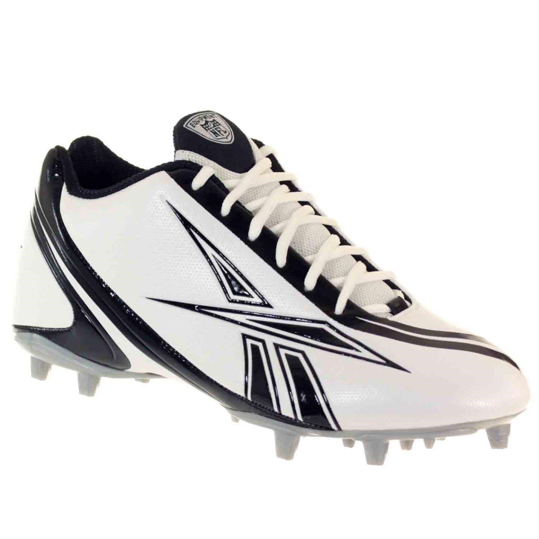 Reebok Pro Burner Speed 5//8 M3 Mens Football Shoes White Black 12 M