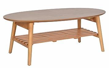Ts Ideen Design Wohnzimmer Tisch Beistelltisch Kaffeetisch Anrichte Couchtisch  Japanischer Stil Oval 100 X 50