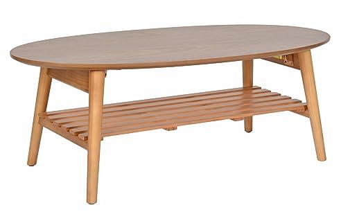 ts ideen design wohnzimmer tisch beistelltisch kaffeetisch anrichte couchtisch japanischer stil oval 100 x 50 - Wohnzimmer Japanischer Stil