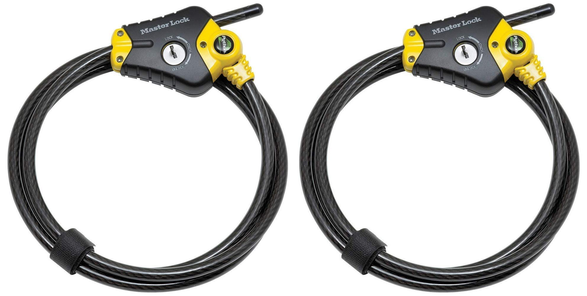 Master Lock 8413DPF 6' Python Adjustable Locking Cable - Pack of 2