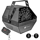 Professional Wireless Bubble Machine - Powered by Plug-in or Battery, Indoor/Outdoor Use - Remote Controlled or Automatic - Quiet, Portable, Metal Body - Automatic Bubble Blower for Kids By MotoWorx