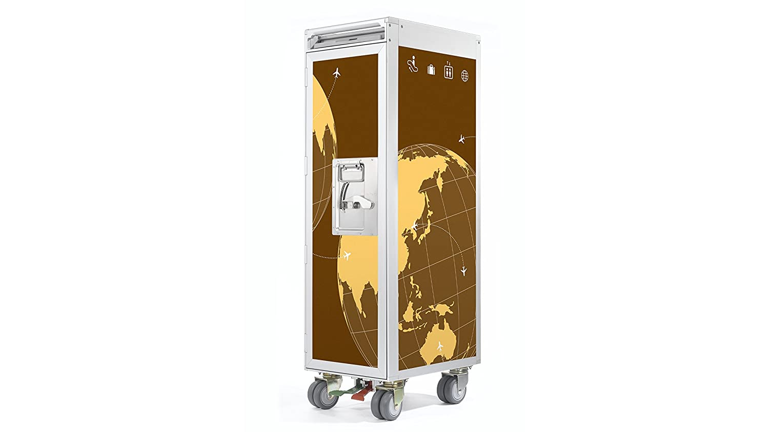 Skypak Flugzeugtrolley, World Wide, Farbe: Brown