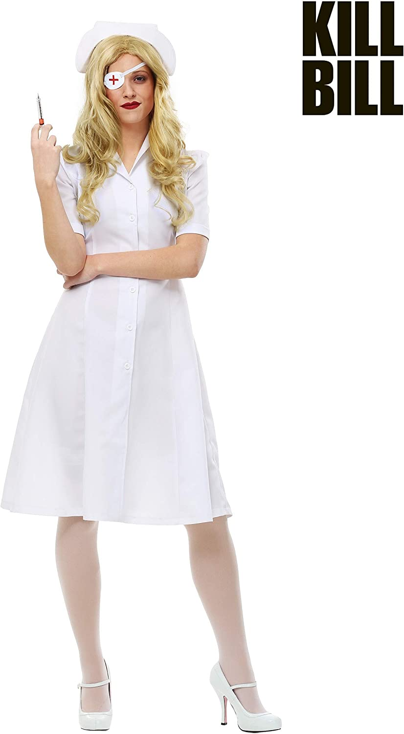 Kill Bill Elle Driver Nurse Womens Fancy dress costume Small ...