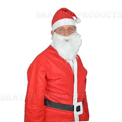 Amazon.com: Adulto Traje de Papá Noel Padre Navidad Disfraz ...