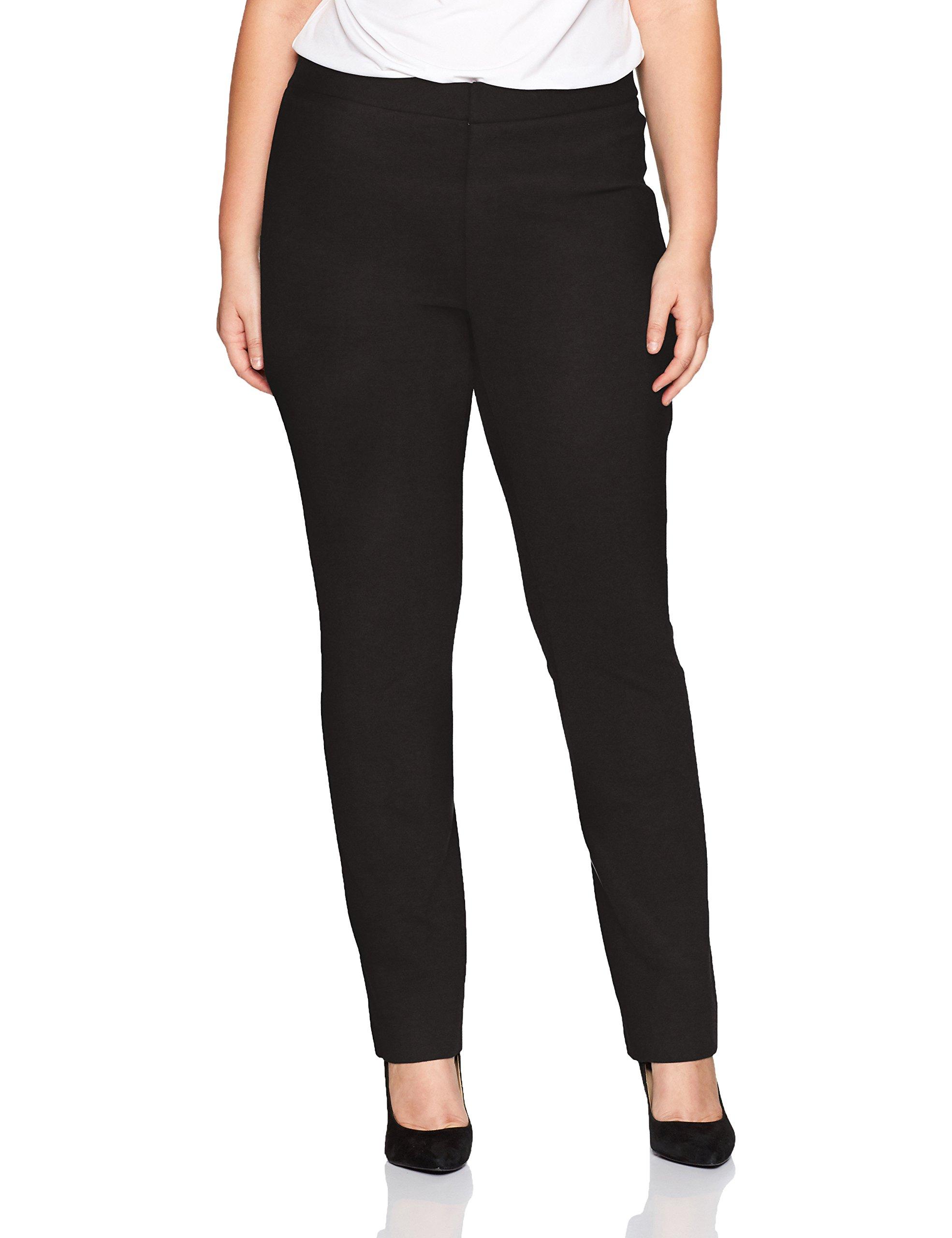 NYDJ Women's Plus Size Ponte Trouser, Black, 18W