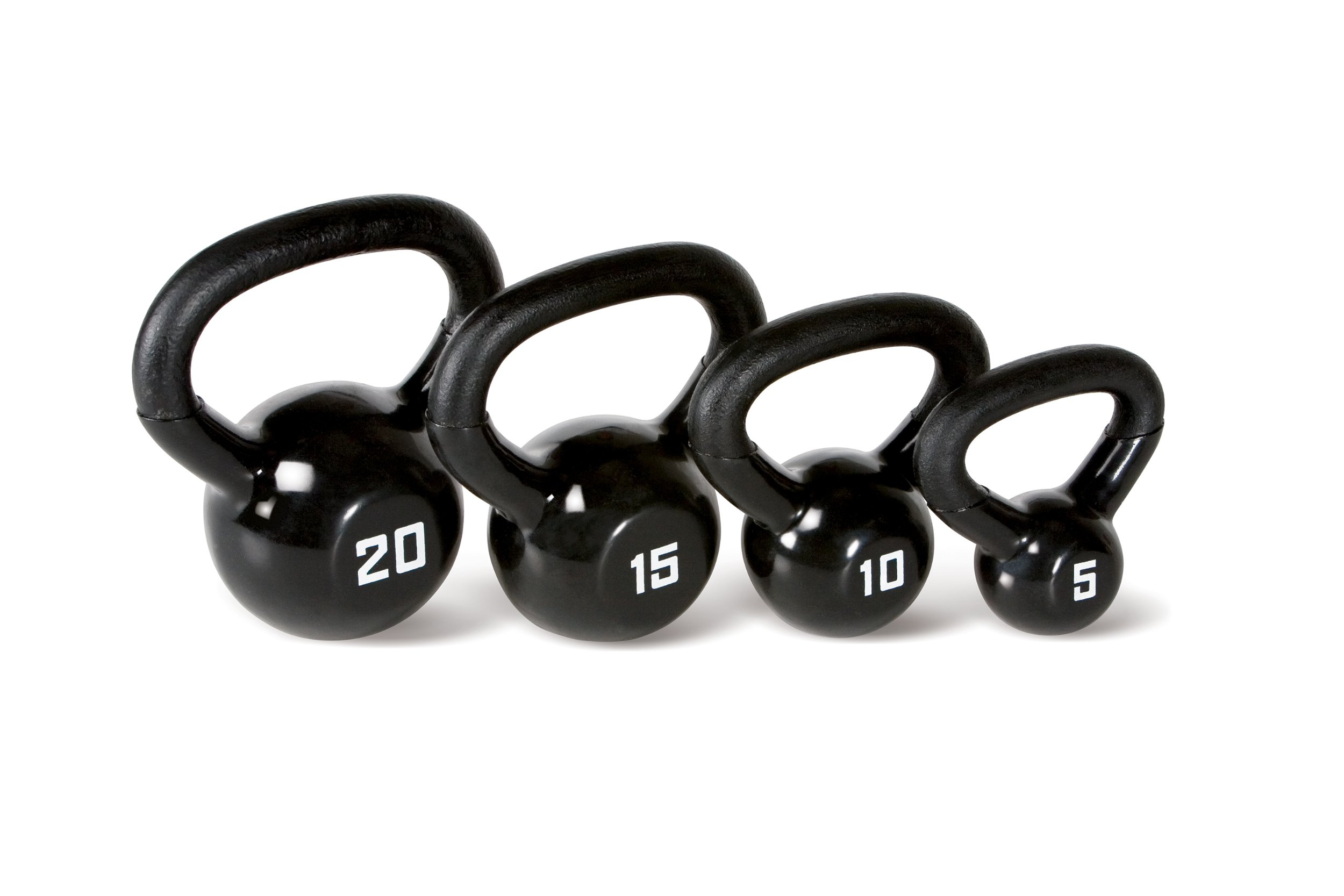 Marcy 50 lb. Kettlebell Weight Set with Exercise Chart and Four Kettlebells VKBS-50 by Marcy