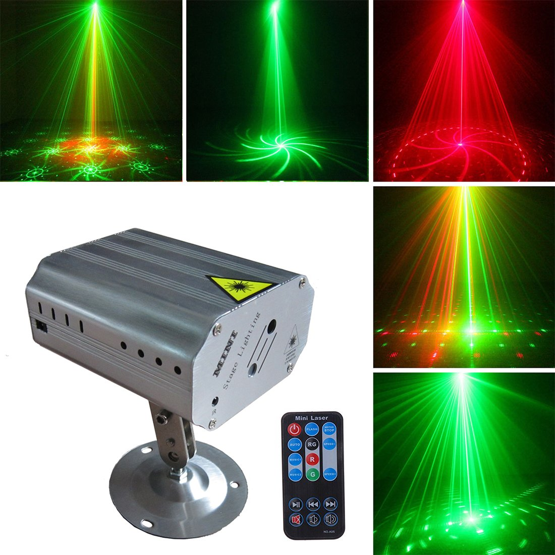Shop amazon stage lights party lights dj disco stage lights sbolight led projector karaoke strobe perform for stage lighting with aloadofball Images