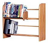 The Wood Shed Solid Oak DVD Storage Rack, Dark