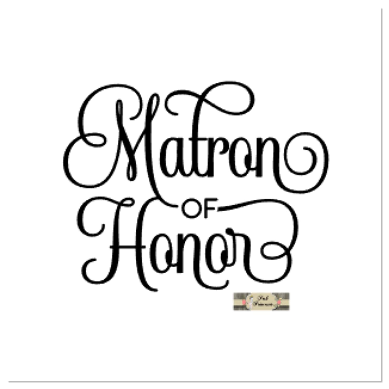 186772f9677 Amazon.com: Wedding Decals, Bridal Decals, Matron Of HonorCar Window Decal,  Yeti Decal, Laptop Sticker, Any Color 4