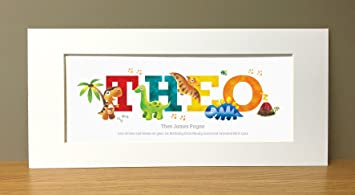 Dinosaur personalised name prints personalised baby gifts dinosaur personalised name prints personalised baby gifts negle Choice Image