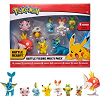 Bandai – Pokémon – Pack de 8 Figuras Olas 5: Pikachu, Flambino, Ouistempo, Larmelon, Rondou, Osselait, Aquali y…