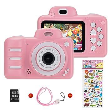 Vannico Camara Fotos, Camara para Niños Cámaras de Video para niños Cámara Digital 8MP 1080P HD Juguetes para niña de 3-10 años con Tarjeta de 16GB TF ...