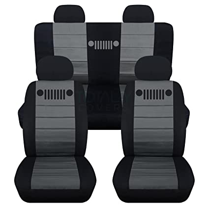 Designcovers Fits 2002 2007 Jeep Liberty Seat Covers With Adjustable/Molded  Front U0026 Rear