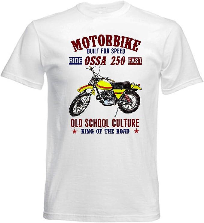 TEESANDENGINES OSSA 250 Super Camiseta Blanca para Hombre de ...