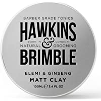 Hawkins & Brimble Matt Clay 100ml/ 3.4 fl oz - Non Greasy Matte Hair Styling For Men   Softens and Allows for Restyling…