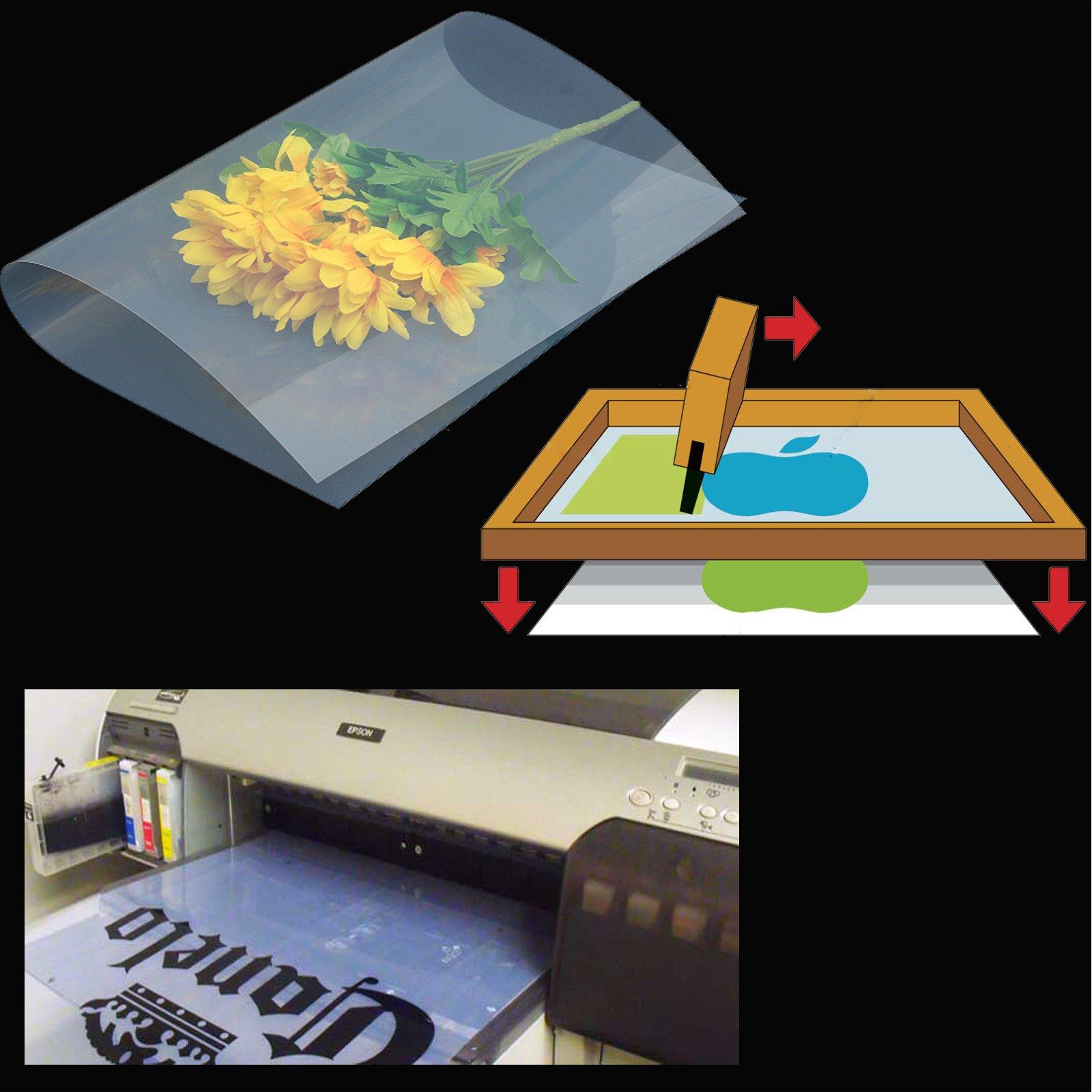 (400 sheets,13''x19'')Waterproof Inkjet Silk Screen Printing Transparency Film Paper by Tiger-Hoo(USA)