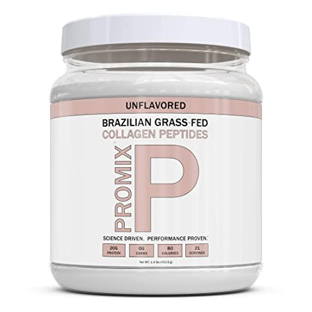 PROMIX Collagen Peptides Protein Powder, Pasture-Raised Grass Fed Hydrolysate Unflavored, 1lb Keto, Non GMO, Gluten Free, Natural, Organic, Hydrolyzed For Healthy Skin, Bones, Hair and Joints