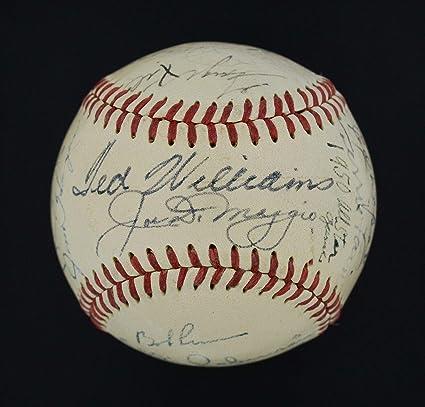 953271b90c0 Fine 1951 American League All Stars Signed Ball Joe DiMaggio Ted ...