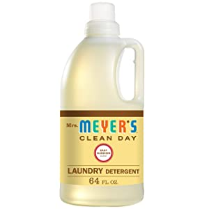 Mrs. Meyer's Clean Day Liquid Laundry Detergent, Cruelty Free and Biodegradable Formula, Baby Blossom Scent, 64 oz