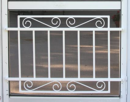 Designer Style Screen Door Grille, Screen Door Pet Guard, By All Weather,  Aluminum