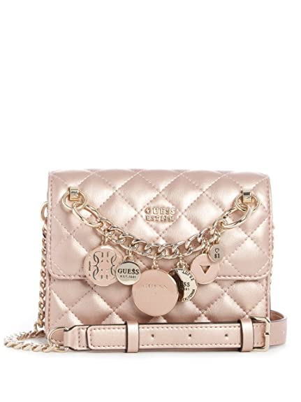 eea01ae4b836 GUESS Victoria Mini Crossbody Champagne  Amazon.co.uk  Shoes   Bags