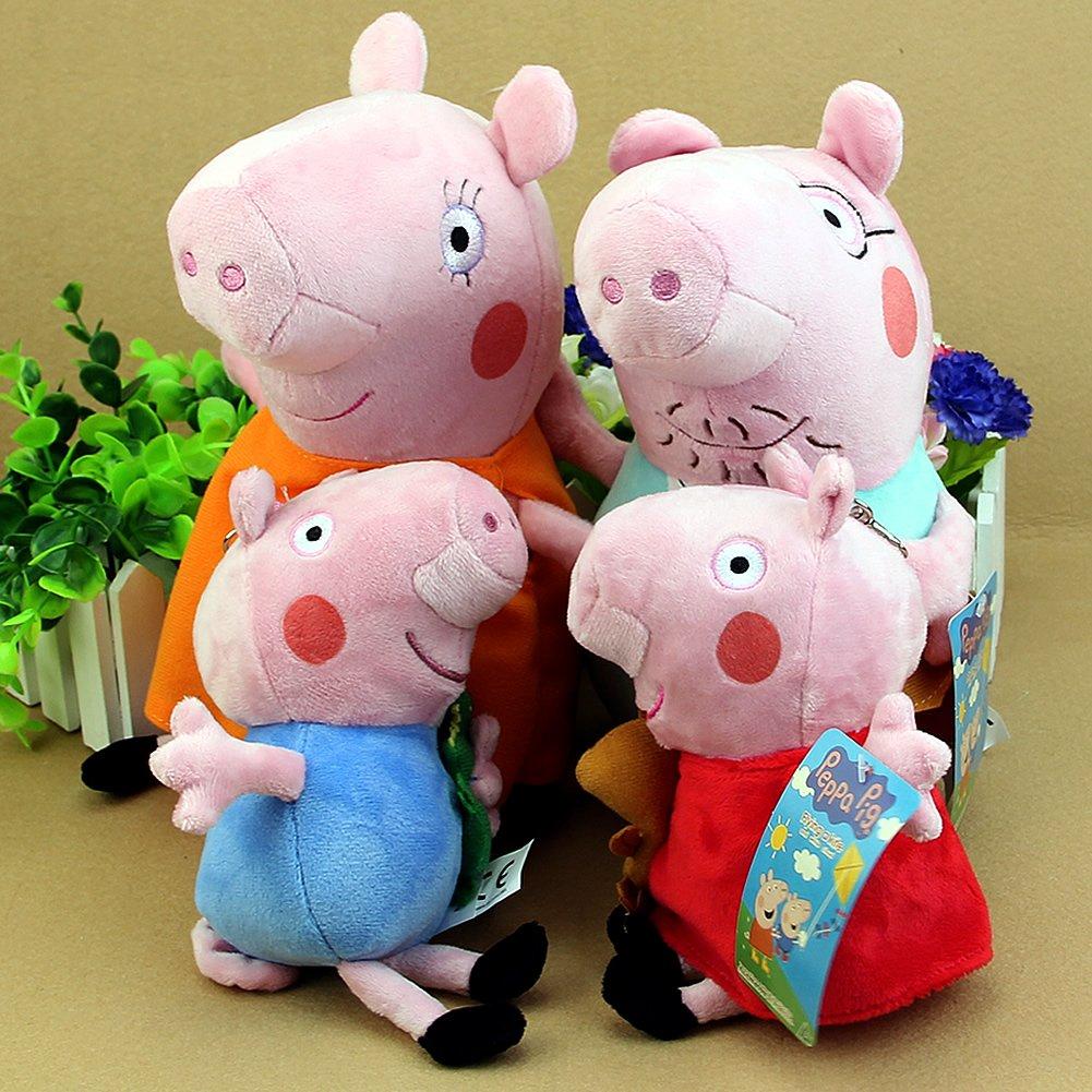 "Peppa Pig Family Plush Toy 4Pcs Set 19-30Cm/7.5-12"" Small Size 18"
