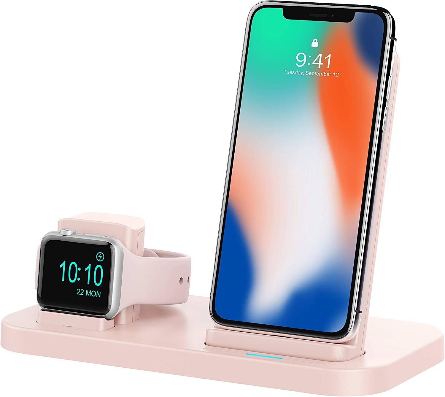BEACOO 2 in 1 Phone Wireless Charger Stand & Charging Station Compatible with Apple Watch Apple Series 4/3/2/1/iPhone 11/X Xs MAX/8 Plus/8 (Not fit ...