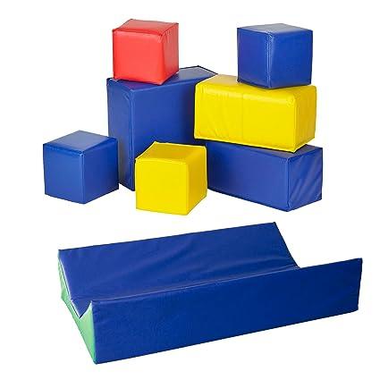 Karma - Conjunto de 7 piezas de bloques para bebé + cambiador de pañales SoftZone para