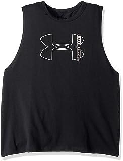 e133ee994ed57c Amazon.com   Under Armour Women s Linear Wordmark Muscle Tank ...